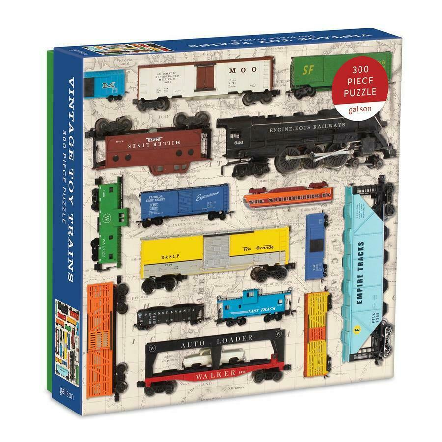 Vintage Toy Train Puzzle (300pc)