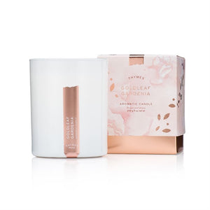 Goldleaf Gardenia Candle - Thymes Collection
