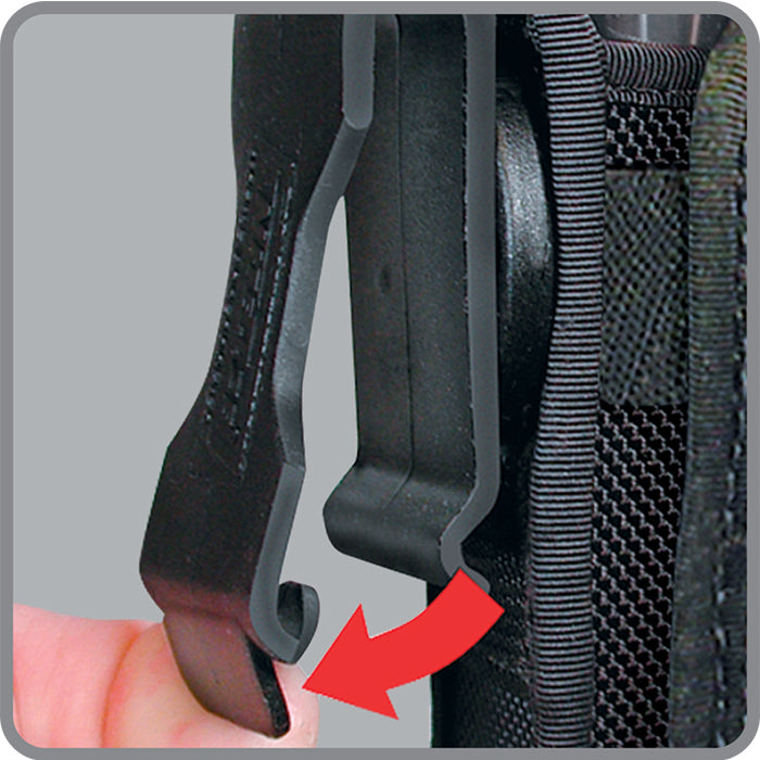 LITE HOLSTER STRETCH™ FLASHLIGHT HOLSTER - BLACK