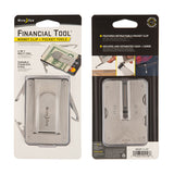 Financial Tool® Money Clip + Pocket Tools - Stainless