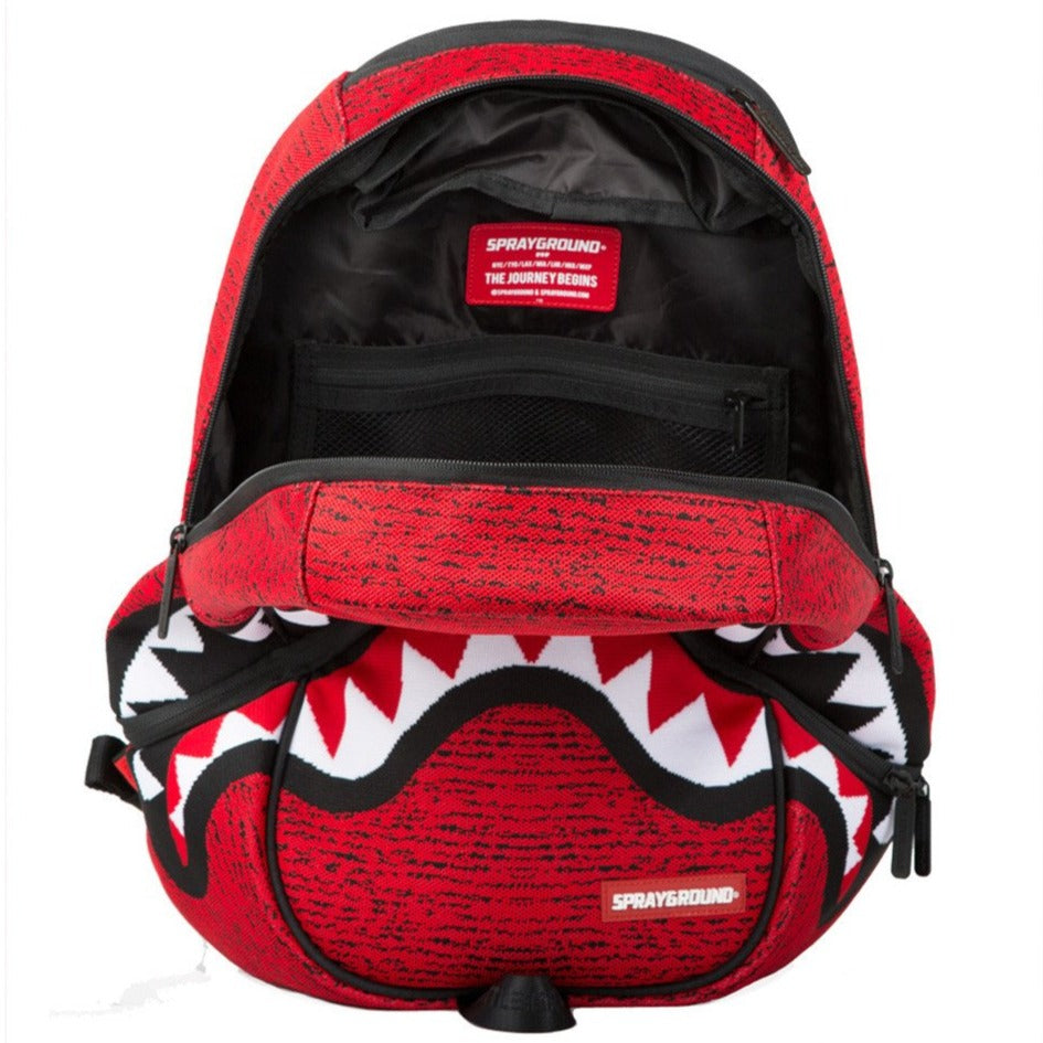 SPRAY GROUND RED KNIT SHARK MOUTH BATTLEGROUND
