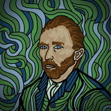 VINCENT VAN GOGH - SELF-PORTRAIT w/ frame
