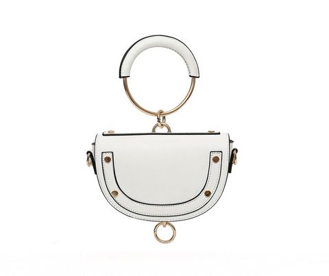 Saddle Bag Round Handbag - Pauline's Phashn, Qute Karma
