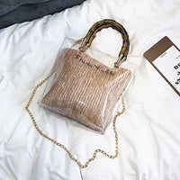 Smal Transparent Chain Straw Cross Body Bag - Pauline's Phashn, Qute Karma