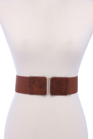 Pu Leather Elastic Belt - Pauline's Phashn, Qute Karma