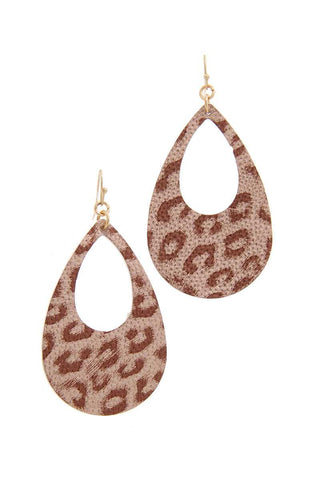 Animal Print Teardrop Shape Earring - Pauline's Phashn, Qute Karma