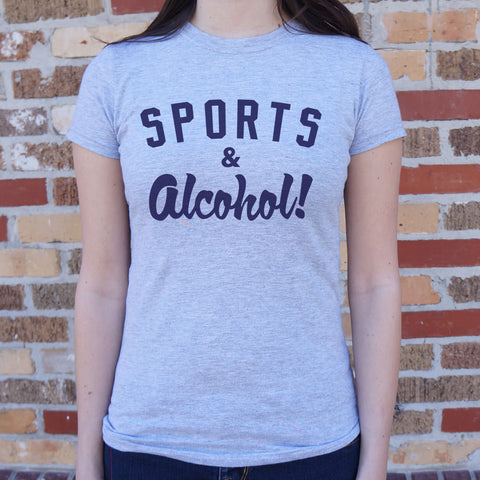 Sports And Alcohol T-Shirt - Pauline's Phashn, Qute Karma