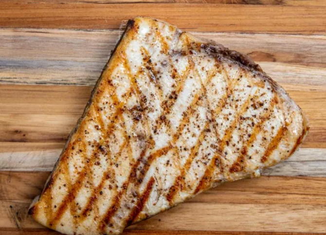 Swordfish Steak 8 oz each.  Frozen -  5 lbs per case- approx.
