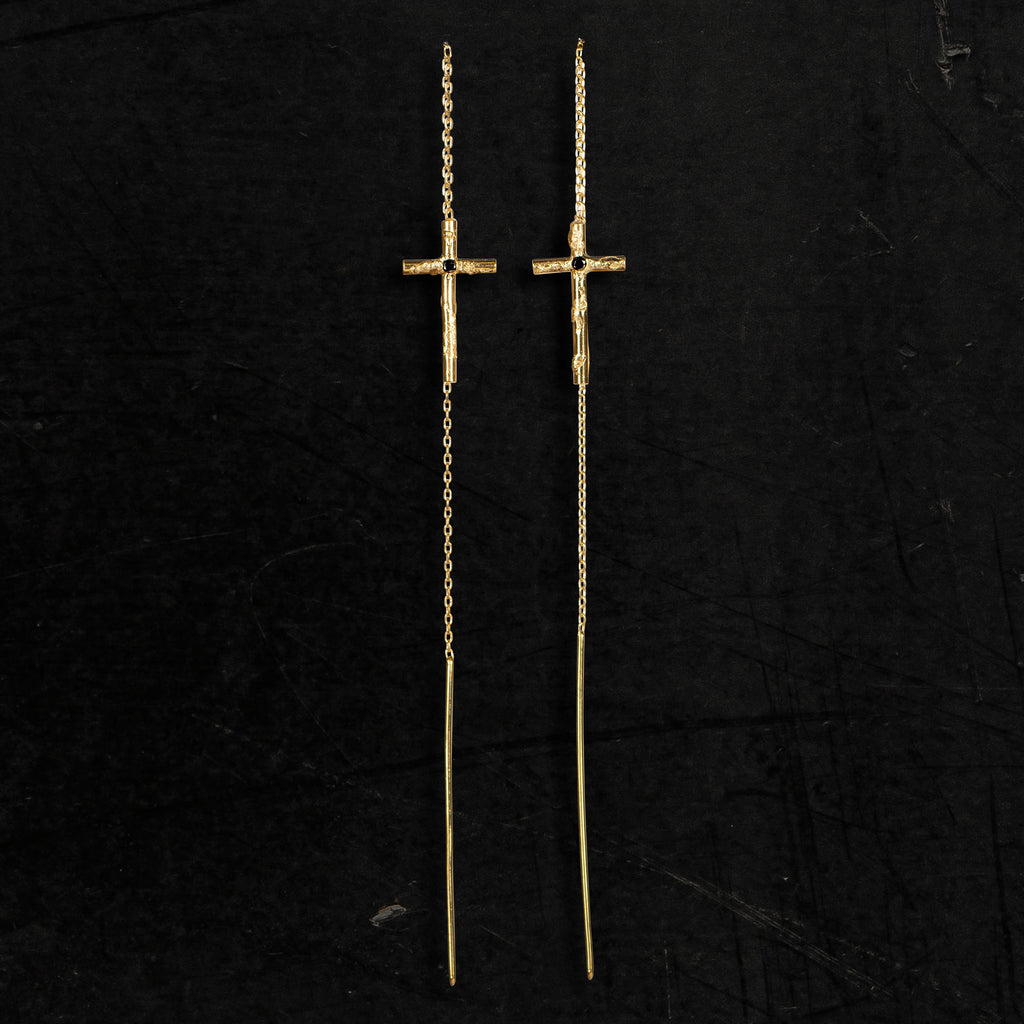 22K GOLD CROSS THREAD II - Lee Brennan
