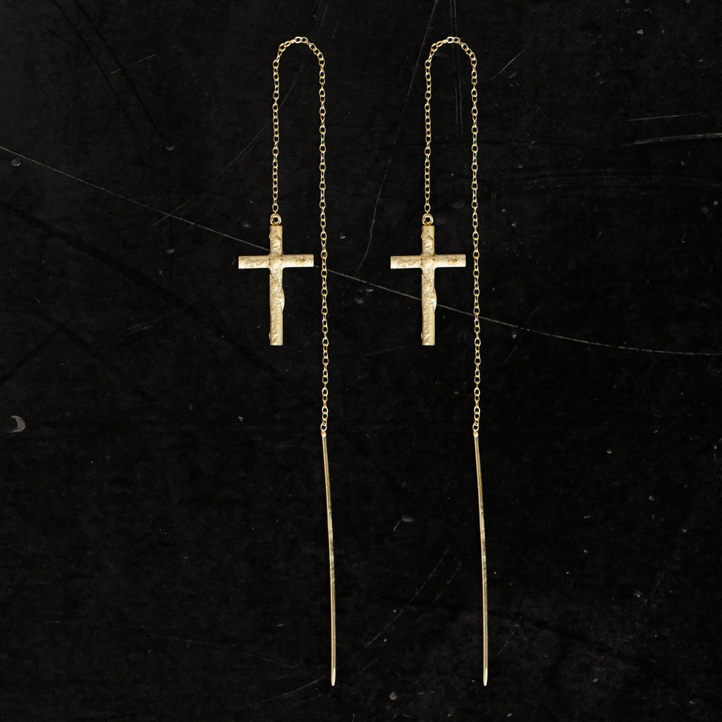 22K GOLD CROSS THREAD I - Lee Brennan