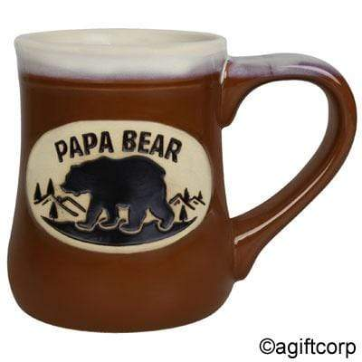 Papa Bear Pottery Mug - Polar Bear Gifts