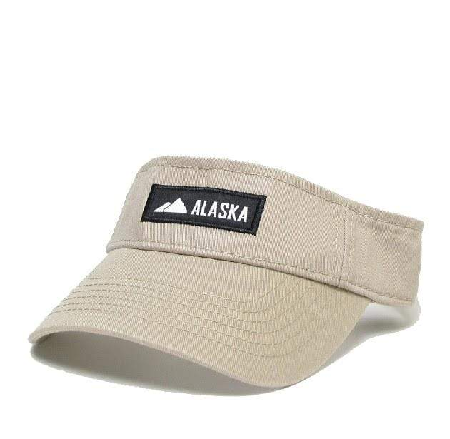 Visor - Alaska Patch Khaki - Polar Bear Gifts