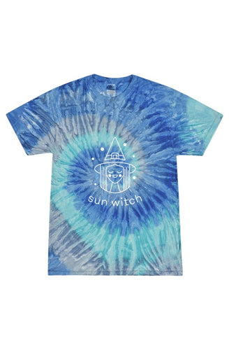 Sun Witch - Tie Dye Blue Jerry Adult T Shirt