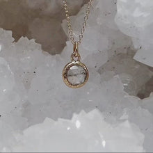 Load and play video in Gallery viewer, Rose Cut Diamond Pendant