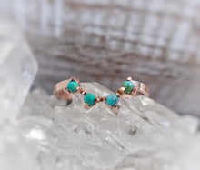 Load image into Gallery viewer, Turquoise Crown Wedding Band