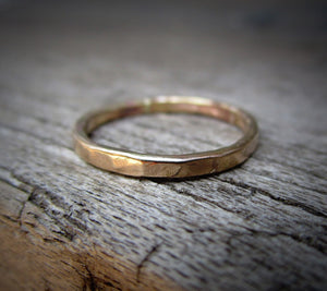 Custom 3mm Hammered Band - 2 rings