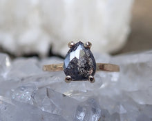 Load image into Gallery viewer, Salt and pepper diamond ring