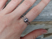 Load image into Gallery viewer, Salt and Pepper Hexagon Diamond Ring