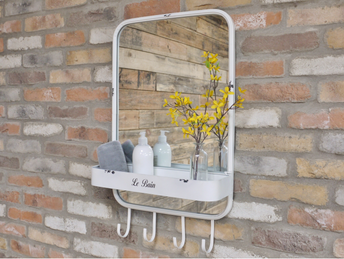 Mirror with Shelf / Bathroom Mirror