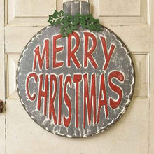 Load image into Gallery viewer, Metal Ornament Merry Christmas Sign
