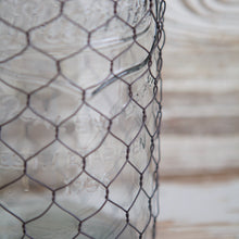 Load image into Gallery viewer, XL Mason Jar With Chicken Wire