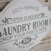 Load image into Gallery viewer, Tin Laundry Sign