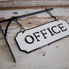"Load image into Gallery viewer, ""Office"" Tin Hanger Sign"