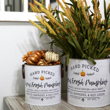Load image into Gallery viewer, Farm Fresh Pumpkin Metal Bucket Set