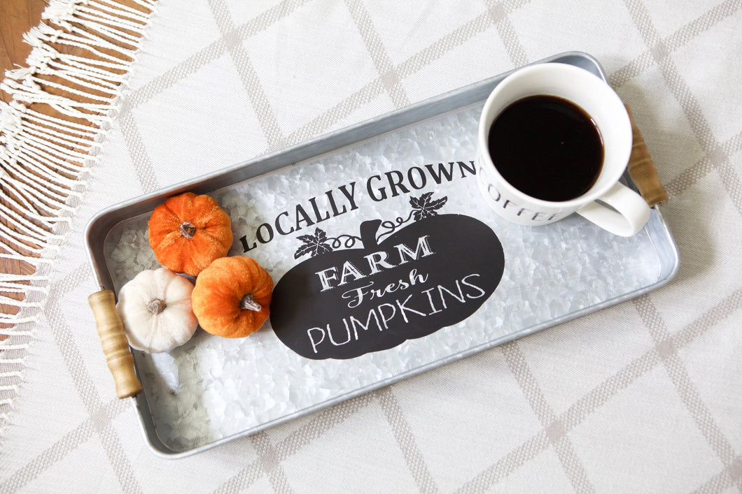 Farm Fresh Pumpkin Tray