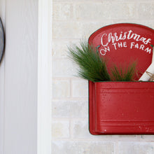 Load image into Gallery viewer, Red Farmhouse Christmas Wall Pouch