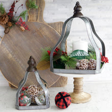 Load image into Gallery viewer, Galvanized Pyramid Open Lantern Set