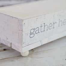 Load image into Gallery viewer, Wood Gather Here With Grateful Hearts Tray