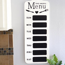 Load image into Gallery viewer, Weekly Menu Wall Chalkboard
