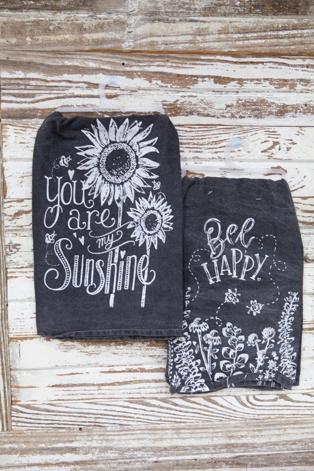 Rustic Black And White Spring Towel Set