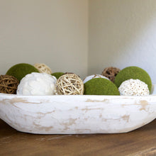 Load image into Gallery viewer, Farmhouse Style White or Gray Dough Bowl