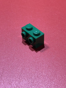 【レゴ】BRICK 1X2 W. 2 KNOBS DARK GREEN