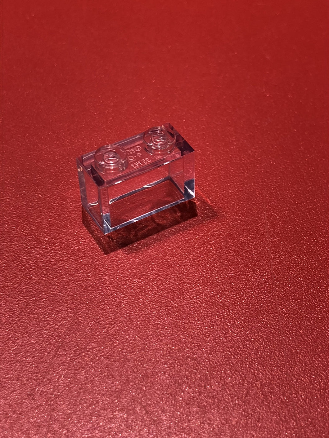 【レゴ】BRICK 1X2 W/O PIN TRANSPARENT