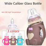 Infant Feeding Glass Bottle with Handles