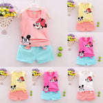 Toddler Girl Minnie and Mickey Short Set