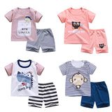 Toddler Boy and Girl Soft Shorts T-shirt Set