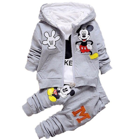 3pcs Minnie and Mickey Clothing Set