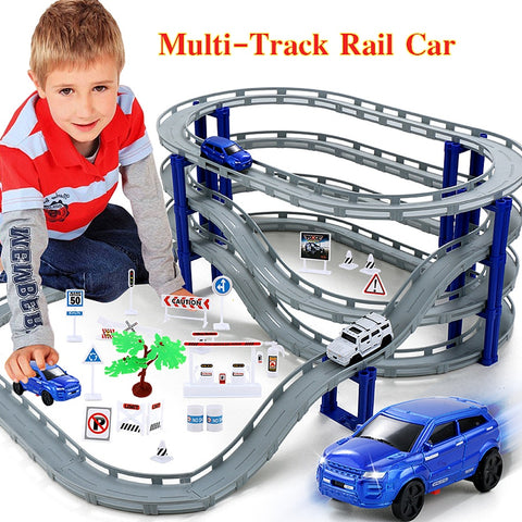 Kids Unisex Multi-Track Rail Car