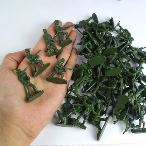 Bagged Soldiers Toy 100 Static Small Soldier Characters