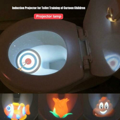 Motion-Activated Toilet Projector Light for Toilet Training