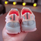 Girls Luminous Sport Run Sneakers