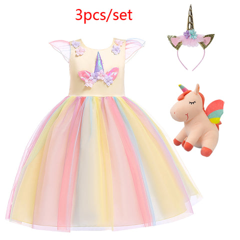 Toddler 3 Piece Unicorn Dress Set