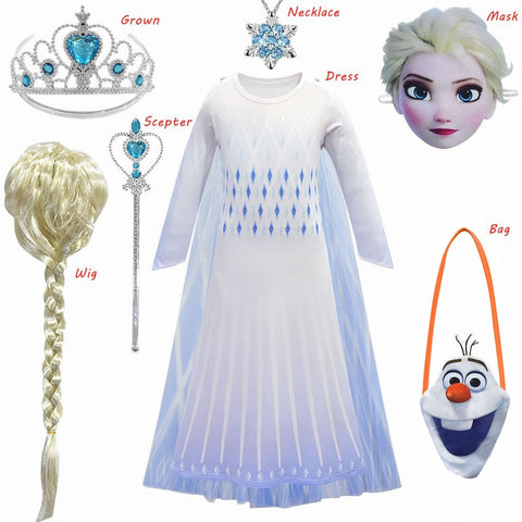Frozen 2 Elsa Costumes for Girls