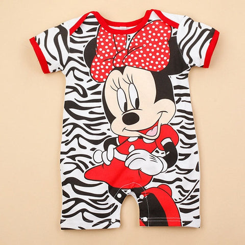 Mickey and Minnie Baby Rompers
