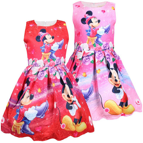 Summer Minnie Mickey Dresses For Girls