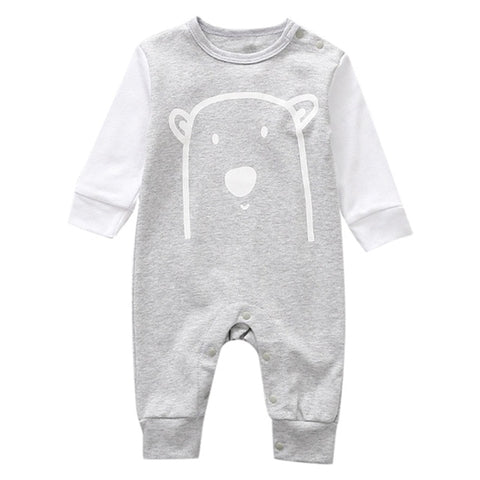 Infant Unisex Cartoon Animal Cotton Romper